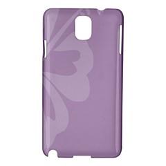Hibiscus Sakura Lavender Herb Purple Samsung Galaxy Note 3 N9005 Hardshell Case by Mariart