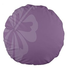 Hibiscus Sakura Lavender Herb Purple Large 18  Premium Flano Round Cushions by Mariart