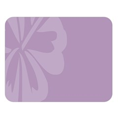 Hibiscus Sakura Lavender Herb Purple Double Sided Flano Blanket (large)  by Mariart