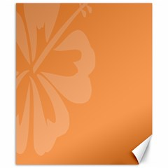 Hibiscus Sakura Tangerine Orange Canvas 8  X 10  by Mariart