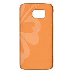 Hibiscus Sakura Tangerine Orange Galaxy S6 by Mariart