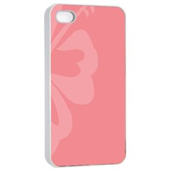 Hibiscus Sakura Strawberry Ice Pink Apple Iphone 4/4s Seamless Case (white) by Mariart