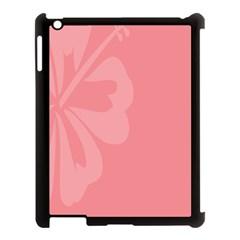 Hibiscus Sakura Strawberry Ice Pink Apple Ipad 3/4 Case (black) by Mariart