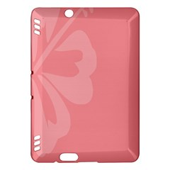 Hibiscus Sakura Strawberry Ice Pink Kindle Fire Hdx Hardshell Case by Mariart