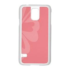 Hibiscus Sakura Strawberry Ice Pink Samsung Galaxy S5 Case (white) by Mariart
