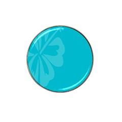 Hibiscus Sakura Scuba Blue Hat Clip Ball Marker by Mariart