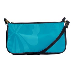 Hibiscus Sakura Scuba Blue Shoulder Clutch Bags by Mariart