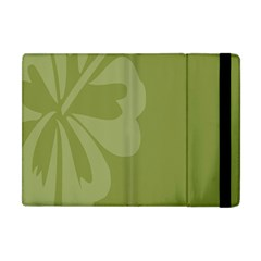 Hibiscus Sakura Woodbine Green Apple Ipad Mini Flip Case by Mariart