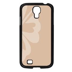 Hibiscus Sakura Toasted Almond Grey Samsung Galaxy S4 I9500/ I9505 Case (black) by Mariart