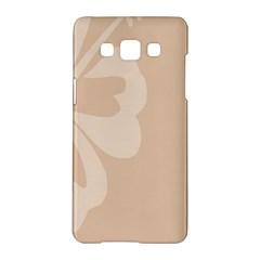 Hibiscus Sakura Toasted Almond Grey Samsung Galaxy A5 Hardshell Case  by Mariart