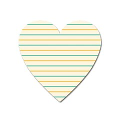 Horizontal Line Yellow Blue Orange Heart Magnet by Mariart