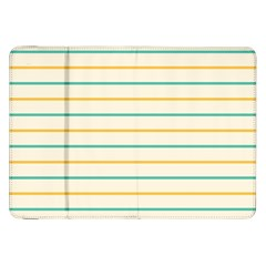 Horizontal Line Yellow Blue Orange Samsung Galaxy Tab 8 9  P7300 Flip Case by Mariart