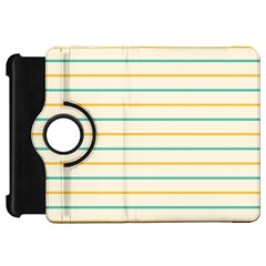 Horizontal Line Yellow Blue Orange Kindle Fire Hd 7  by Mariart