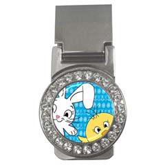 Easter Bunny And Chick  Money Clips (cz)  by Valentinaart