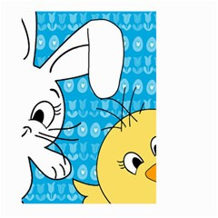 Easter Bunny And Chick  Large Garden Flag (two Sides) by Valentinaart