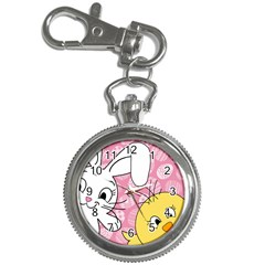 Easter Bunny And Chick  Key Chain Watches by Valentinaart