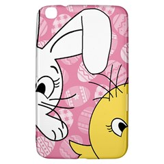Easter Bunny And Chick  Samsung Galaxy Tab 3 (8 ) T3100 Hardshell Case  by Valentinaart