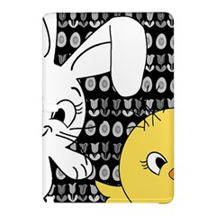 Easter Bunny And Chick  Samsung Galaxy Tab Pro 12 2 Hardshell Case by Valentinaart