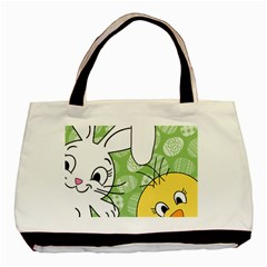 Easter bunny and chick  Basic Tote Bag (Two Sides) by Valentinaart
