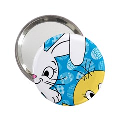 Easter Bunny And Chick  2 25  Handbag Mirrors by Valentinaart