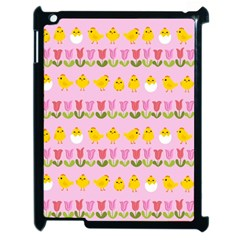 Easter   Chick And Tulips Apple Ipad 2 Case (black) by Valentinaart