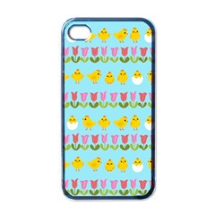Easter   Chick And Tulips Apple Iphone 4 Case (black) by Valentinaart
