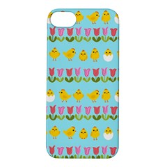 Easter   Chick And Tulips Apple Iphone 5s/ Se Hardshell Case by Valentinaart