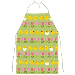 Easter   Chick And Tulips Full Print Aprons by Valentinaart
