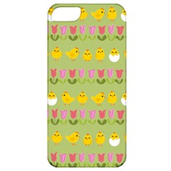 Easter   Chick And Tulips Apple Iphone 5 Classic Hardshell Case by Valentinaart
