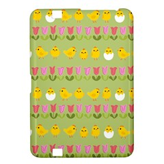 Easter   Chick And Tulips Kindle Fire Hd 8 9  by Valentinaart