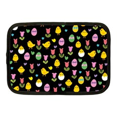 Easter   Chick And Tulips Netbook Case (medium)  by Valentinaart