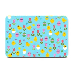 Easter - chick and tulips Small Doormat