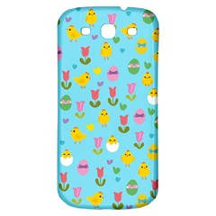 Easter   Chick And Tulips Samsung Galaxy S3 S Iii Classic Hardshell Back Case by Valentinaart