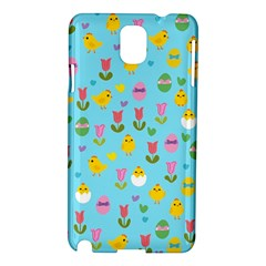 Easter   Chick And Tulips Samsung Galaxy Note 3 N9005 Hardshell Case by Valentinaart