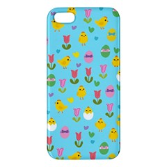 Easter   Chick And Tulips Iphone 5s/ Se Premium Hardshell Case by Valentinaart