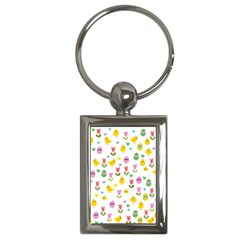 Easter - chick and tulips Key Chains (Rectangle)