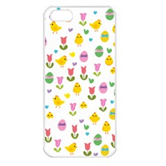 Easter   Chick And Tulips Apple Iphone 5 Seamless Case (white) by Valentinaart