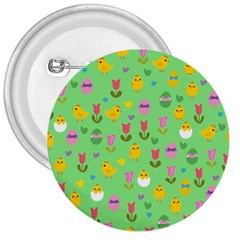 Easter   Chick And Tulips 3  Buttons by Valentinaart