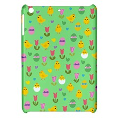 Easter   Chick And Tulips Apple Ipad Mini Hardshell Case by Valentinaart