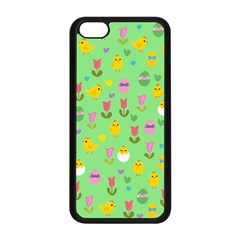 Easter   Chick And Tulips Apple Iphone 5c Seamless Case (black) by Valentinaart