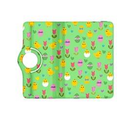 Easter   Chick And Tulips Kindle Fire Hdx 8 9  Flip 360 Case by Valentinaart
