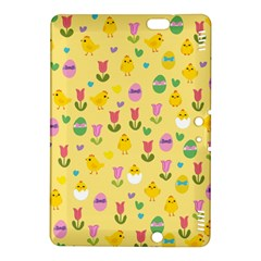 Easter   Chick And Tulips Kindle Fire Hdx 8 9  Hardshell Case by Valentinaart