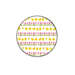 Easter   Chick And Tulips Hat Clip Ball Marker (10 Pack) by Valentinaart