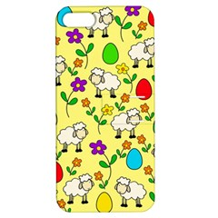 Easter Lamb Apple Iphone 5 Hardshell Case With Stand by Valentinaart