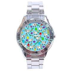 Easter Lamb Stainless Steel Analogue Watch by Valentinaart