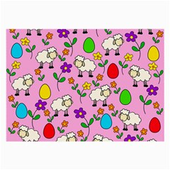 Easter Lamb Large Glasses Cloth by Valentinaart