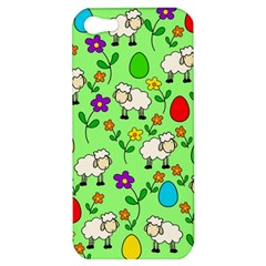 Easter Lamb Apple Iphone 5 Hardshell Case by Valentinaart