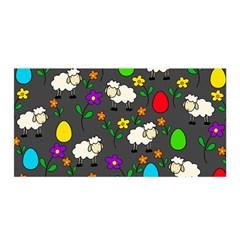 Easter Lamb Satin Wrap by Valentinaart