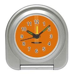 Minimalism Art Simple Guitar Travel Alarm Clocks by Mariart
