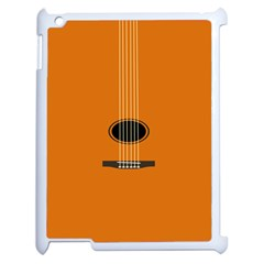 Minimalism Art Simple Guitar Apple Ipad 2 Case (white) by Mariart